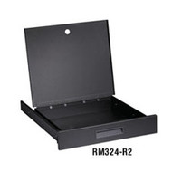 "Black Box Sliding Drawer - 16"" Deep with Writing Surface, 3.43""H x 15.67""W RM324-R2"