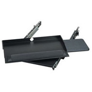"Black Box 19"" Sliding Pivoting Keyboard Tray with Mouse Tray, 20.6""W x 9.5""D RM385"