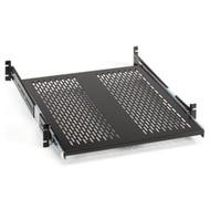 "Black Box Rackmount Sliding Vented 4-Point Shelf, 23"" Rails RMS2324S"