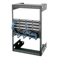Black Box 15U Wallmount Rack, M5 Square Holes, 150lbs RMT994A