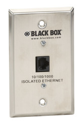 Black Box Wallplate Data Isolator Stainless Steel 10/100/1000-Mbps 4K SP4000A