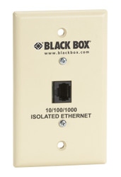 Black Box Wallplate Data Isolator, Plastic, 10/100/1000 SP4010A