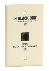 Black Box Wallplate Data Isolator, Plastic, 10/100 SP4011A