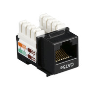 Black Box CAT5e Keystone Jack Unshielded Jack Black 25-Pack CAT5EJ-BK-25PAK