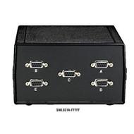 Black Box Desktop DB9 4 to 1 Manual Switch MMMMM All Leads SWL031A-MMMMM