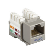 Black Box CAT5e Keystone Jack Unshielded Jack Gray 10-Pack CAT5EJ-GY-10PAK