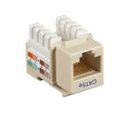 Black Box CAT5e Keystone Jack Unshielded Jack Ivory 10-Pack CAT5EJ-IV-10PAK