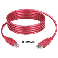 Black Box iMac USB Cable, Type A-Type B Plugs, Strawberry, 3-ft. (0.9-m) USBIMAC1-0003