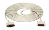 Black Box Laser-Printer (25-Conductor) Cable, Centronics Male/DB25 Male, 25-ft. BC00205