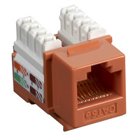 Black Box CAT5e Keystone Jack Unshielded Jack Orange 10-Pack CAT5EJ-OR-10PAK