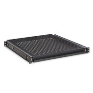 "Kendall Howard 1U 20"" Vented Rack Mountable Sliding Shelf"