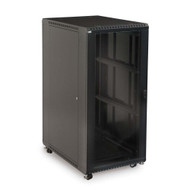 "27U LINIER Server Cabinet - Glass/Vented Doors - 36"" Depth Includes one locking vented door"