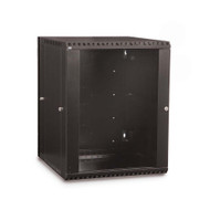 15U LINIER® Swing-Out Wall Mount Cabinet - Glass Door