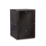 18U LINIER® Swing-Out Wall Mount Cabinet - Glass Door
