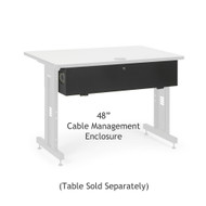 "Kendall Howard 48"" Training Table Cable Management Enclosure"