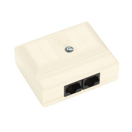 Black Box Cat5 Surface-Mount Block T568B 2 Jack 38780
