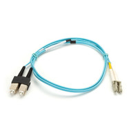 Black Box 2m (6.5ft) SCLC Aqua OM3 MM Fiber Patch Cable INDR Zip OFNR EFNT010-002M-SCLC