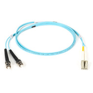 Black Box 5m (16.4ft) STLC Aqua OM3 MM Fiber Patch Cable INDR Zip OFNR EFNT010-005M-STLC