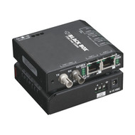 Black Box Extreme Media Converter Switch, 10-/100-Mbps Copper to 100-Mbps Fiber, LBH100A-P-ST-12