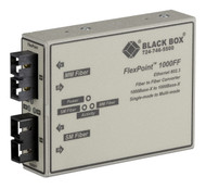 Black Box FlexPoint 1000-Mbps Fiber-to-Fiber Mode Converter, 850-nm Multimode to LMC1001A