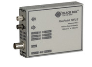 Black Box FlexPoint 10BASE-FL to BNC Media Converter, 10-Mbps Fiber to ThinNet, LMC211A-MM