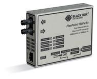 Black Box MOD Media Converter 100BASETX to 100BASELX 1300nm SM 25km SC LMC213A-SMSC-R2