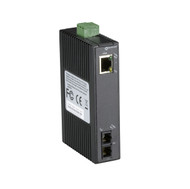 Black Box Hardened Mini Industrial Media Converter, (1) 10-/100-Mbps Copper to ( LMC270A-SM-20K-SC