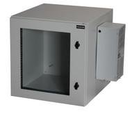 Black Box 12U NEMA12 Wallmount Cabinet w/ 800-BTU AC SGL Hinged Beige RMW5130AC-R2