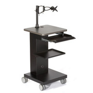 Black Box Mobile Workstation with Monitor Mount MWS-M