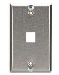 Black Box Stainless Keystone Wallplate for Mounting Wall-Style Telephone WP369