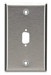 Black Box 1-Port DB9 Single-Gang Stainless Steel Wallplate WP070