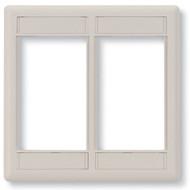 Black Box GigaStation+ Modular Wallplate, Double-Gang, Office White WP562
