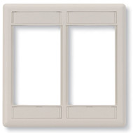 Black Box Office White Double-Gang Modular Wallplate WP562