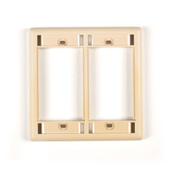 Black Box Telco Ivory Double-Gang Modular Wallplate WP563