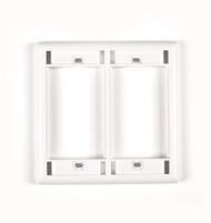 Black Box White Double-Gang Modular Wallplate WP564