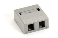 Black Box 2-Port Office Gray Surface-Mount Housing WP378-R4