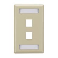 Black Box GigaStation Plus Wallplate, Single-Gang, 2-Port, Ivory WP460C