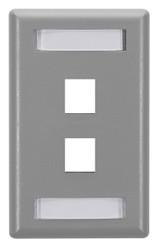 Black Box GigaStation Wallplate, 2-Port, Single-Gang, Gray WP461