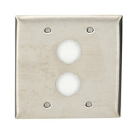 Black Box Stainless Industrial Wallplate, 2-Gang, 2-Port WPI006