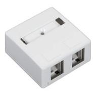 Black Box Surface-Mount Housing, 2-Port, White WP283-R4