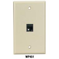 Black Box Keystone Wallplates, 1-Port WP451