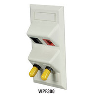 Black Box Angled Single-Gang Wallplate with 4 Flush Keystone Openings, Office Wh WPP300