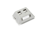 Black Box 2-Port Gray Modular Furniture Wallplate WPT461-MF