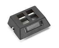 Black Box 4-Port Black Modular Furniture Wallplate WPT471-MF