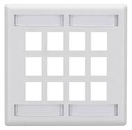 Black Box GigaStation2 Wallplate - 12-Port Single-Gang, White WPT494