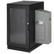 Black Box ClimateCab NEMA 12 Server Cabinet with M6 Rails and 8000-BTU AC Unit - CC24U8000M640-R2
