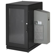 Black Box ClimateCab NEMA 12 Server Cabinet with M6 Rails and 5000-BTU AC Unit - CC24U5000M640-R2