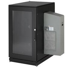 Black Box ClimateCab NEMA 12 Server Cabinet with M6 Rails and 8000-BTU AC Unit - CC24U8000M631-R2