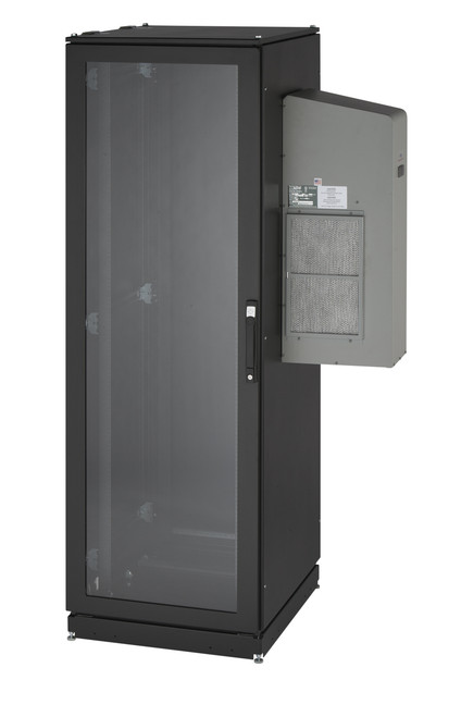 Black Box ClimateCab NEMA 12 Server Cabinet with M6 Rails and 8000-BTU AC Unit - CC42U8000M6-R2