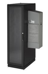 Black Box NEMA 12 Cabinet 1200BTU AC 42U 82.4x43x 33.7 Tapped Rails 110V CC42U12000T-R2